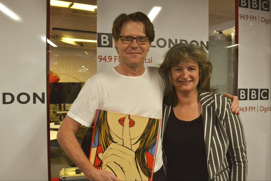 Deborah Azzopardi and Robert Elms, BBC London, 2014