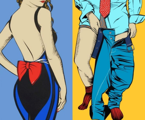 'Does my bum look big in this?'/ 'Late for work' by Deborah Azzopardi