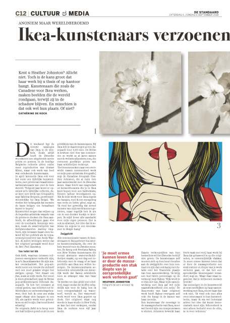 De Standaard, Belgium, Deborah Azzopardi Interview, September 2015 - Part I