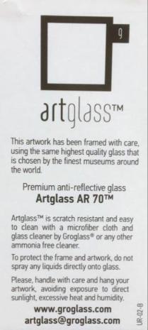 Premium anti-reflective glass.